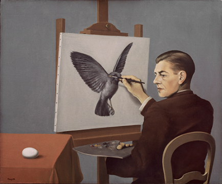 Rene Magritte, The Mystery of the Ordinary 1926-1938 The Art Institute of Chicago, labrouge egg and bird