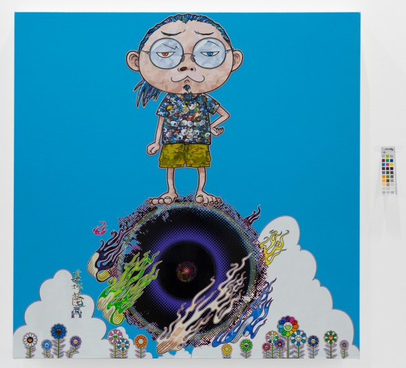 T-Murakami_Standing-on-the-Bridge-Linking-Space-and-Time-2014 palazzo reale labrouge