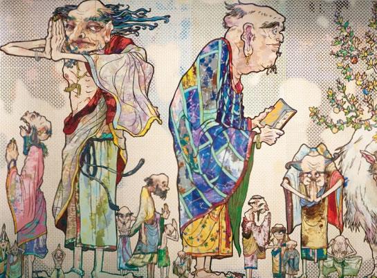 takashi murakami painting china palazzo reale francesco bonami labrouge