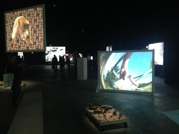 Joan Jonas light time tales Hangar Bicocca Milano installation labrouge