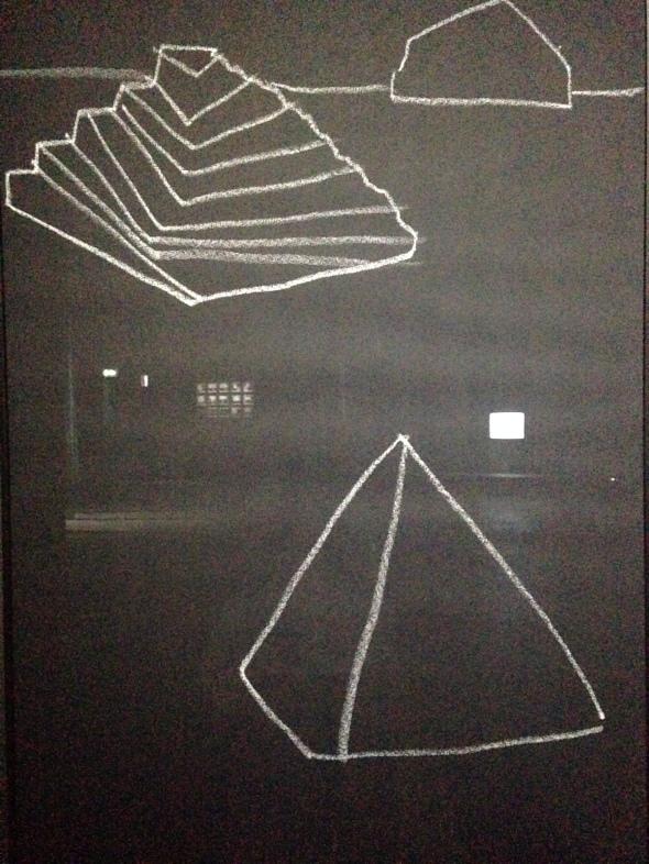 Joan Jonas light time tales Hangar Bicocca Milano pyramid labrouge