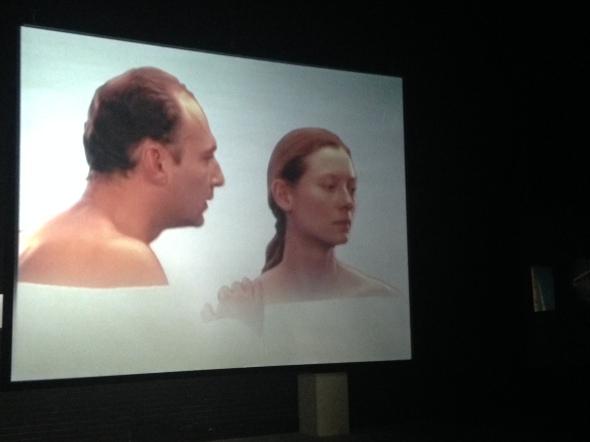 Joan Jonas light time tales Hangar Bicocca Milano video tilda swinton labrouge