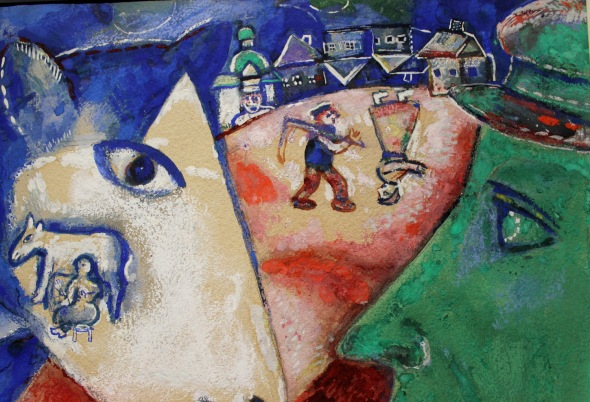Marc Chagall l'imbrunire Palazzo Reale 2015 labrouge