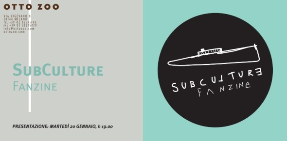 Subculture fanzine presentation event Otto Zoo gallery Milano labrouge