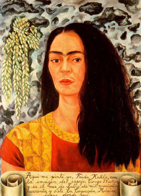 013_Frida Kahlo, Autoritratto coi capelli sciolti