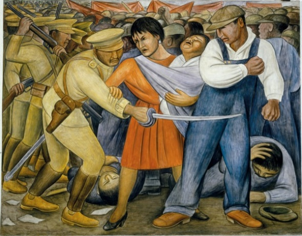 Diego Rivera the Uprising, 1931