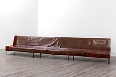 Rosemarie Trockel Bregenz khunstaus furniture sofas works texture labrouge