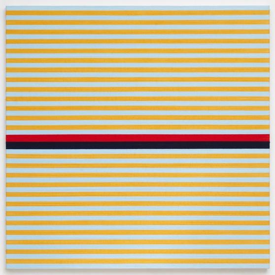 Rosemarie Trockel Bregenz khunstaus stripes painting minimal labrouge