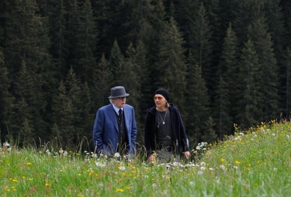 """SET DEL FILM """"LA GIOVINEZZA"""" DI PAOLO SORRENTINO. NELLA FOTO MICHAEL CAINE  E PAUL DANO. FOTO DI GIANNI FIORITO"""