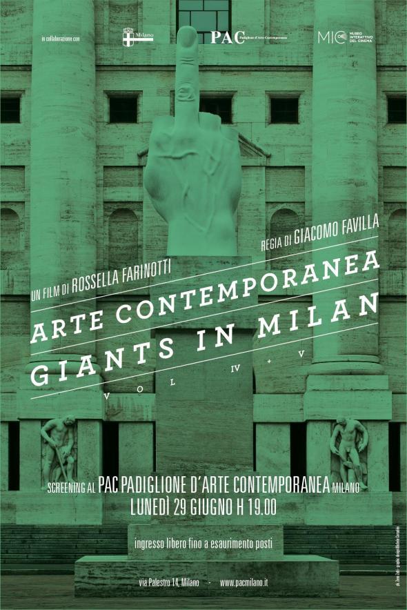 Arte contemporanea, Giants in Milan. Screening @ PAC, lunedì 29 giugno h. 19.00