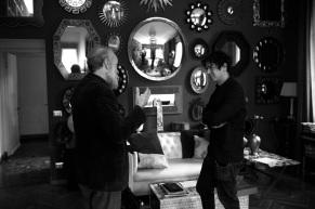 Barnaba Fornasetti & Virgilio Villoresi on the set